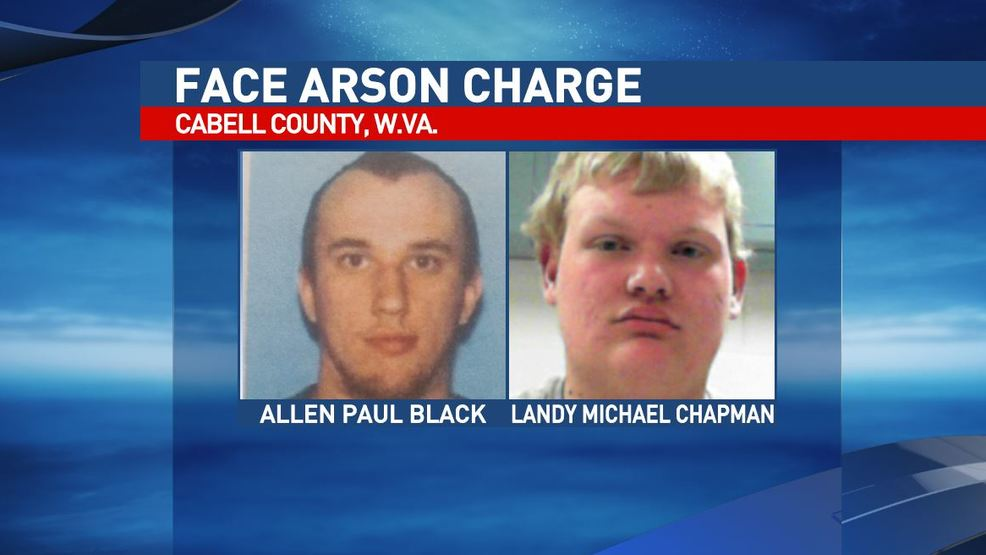 Court records say Allen Paul Black, 19, of Milton, left, faces an arson and  false alarm charge, while Landy Michael Chapman, 18, of Milton faces arson  ...
