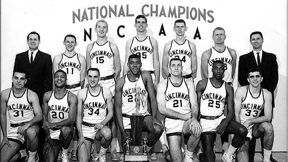 Cincinnati's 1961 NCAA men's basketball champions. (Courtesy University of Cincinnati Archives)