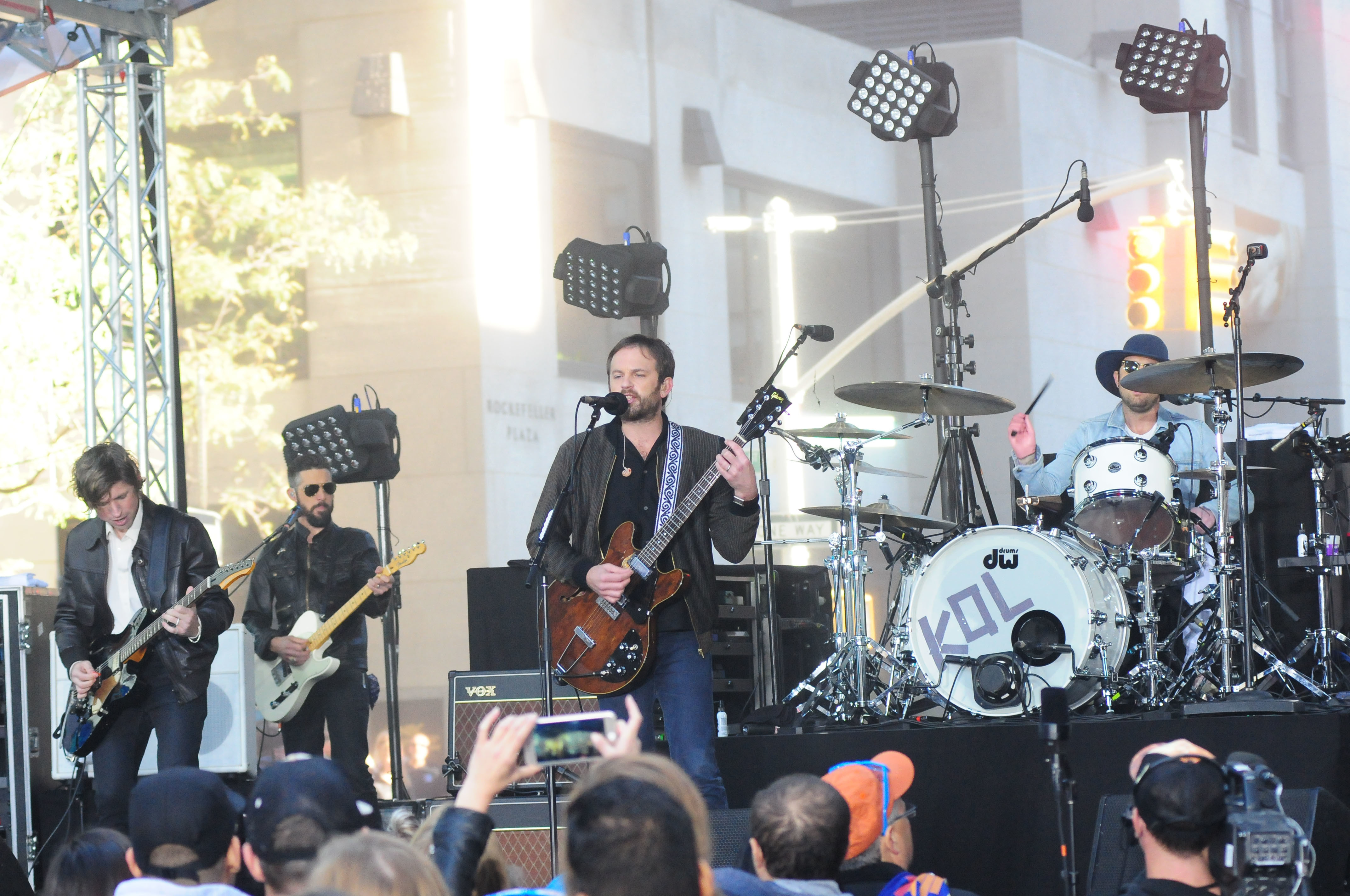 Kings Of Leon performing live on NBC's Today show as part of the concert series  Featuring: Kings Of Leon, Caleb Followill, Jared Followill, Nathan Followill, Matthew Followill Where: NY, New York, United States When: 14 Oct 2016 Credit: Dan Jackman/WENN.com
