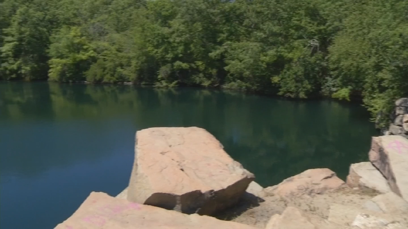 The Westerly Police Department is increasing patrols at the Bradford Quarry, as people have been cliff jumping and swimming in the area. (WJAR)