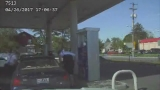 Dashcam video shows moments leading to officer-involved shooting at gas station