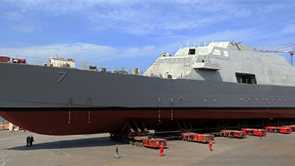 LCS 7, the future USS Detroit (Photo courtesy Lockheed Martin)