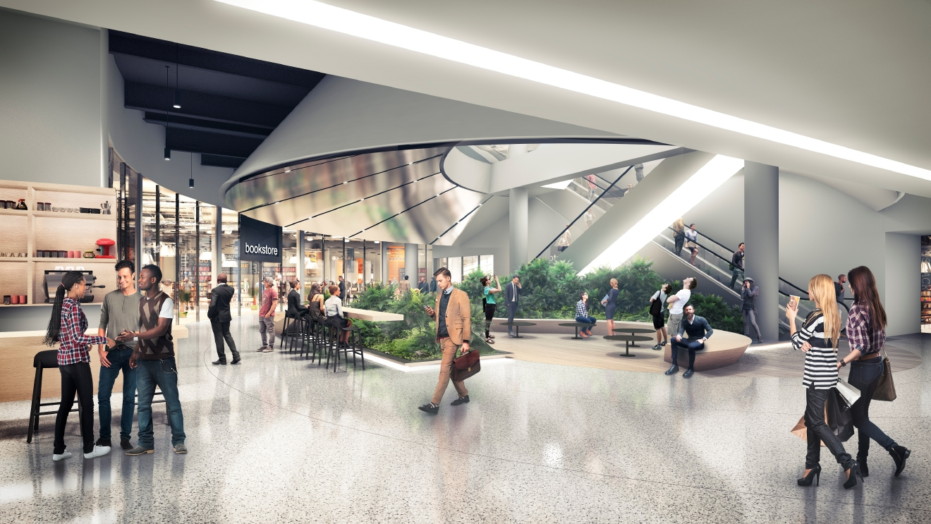 A rendering of the new Pacific Place Concourse. (Image: Pacific Place)