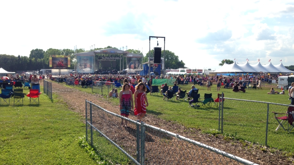 The main stage for Country USA near Oshkosh is seen on Tue, June 24, 2014. (WLUK/Andrew LaCombe)