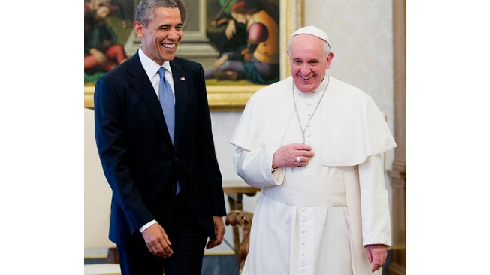 President Barack Obama meets with Pope Francis, Thursday, March 27, 2014 at the Vatican. (AP Photo/Pablo Martinez Monsivais)