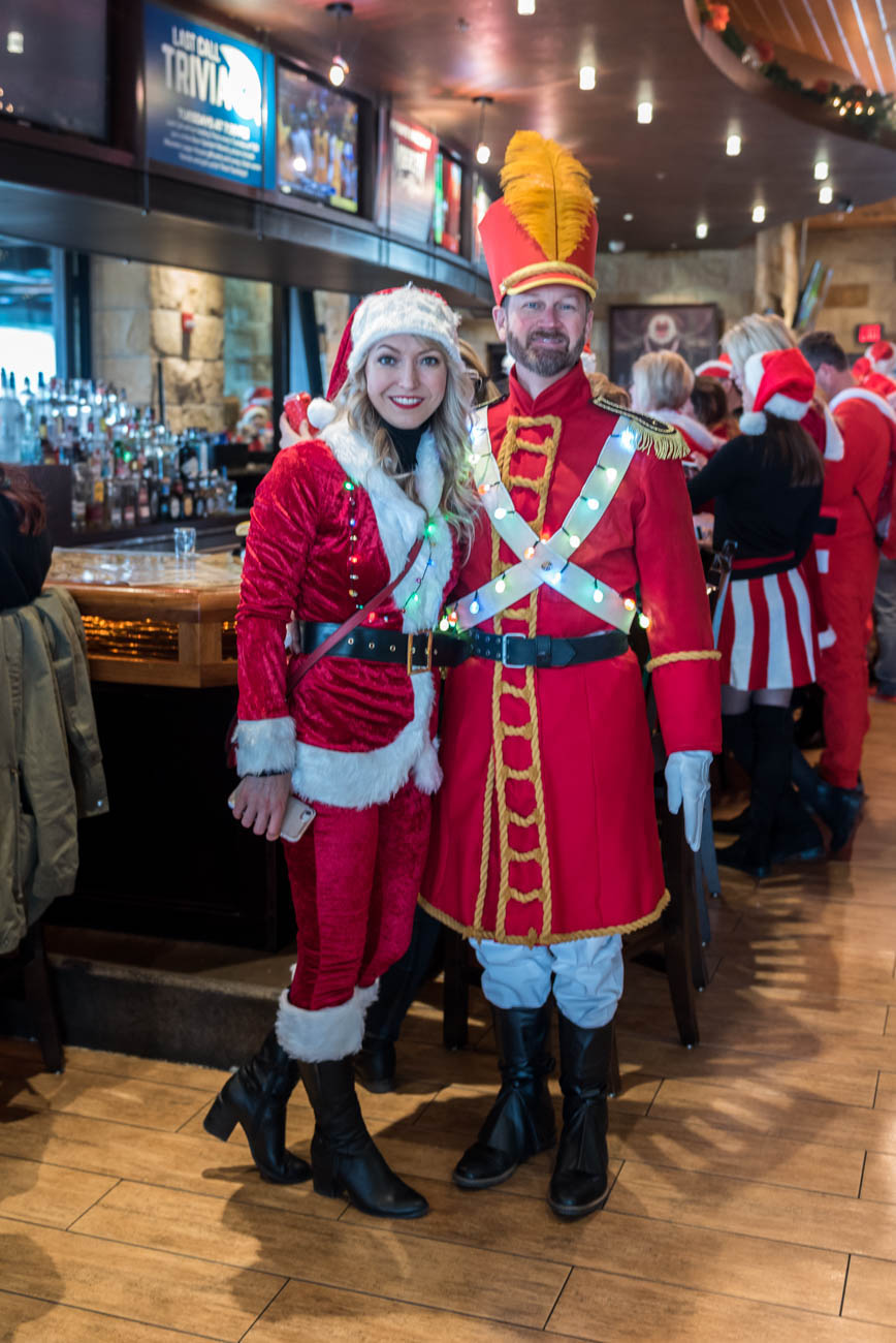 Tina & Mike Griffiths enjoying Santacon on Saturday, December 8. / Image: Mike Menke / Image: Mike Menke // Published: 1.3.19