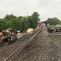 CSX freight train derails causing 31 train cars to come off tracks in Alexandria