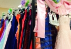 Underprivileged girls pick out free prom dresses