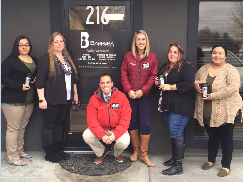 Mugshot Mondays: This week's winner is Barrera Legal Group in Nampa!{ }Kelsey Anderson{ }&{ }Bryan Levin helped deliver free Dutch Bros. Coffee and KBOI mugs! Want your business to be next? Enter:{ }http://bit.ly/1UoKo3X