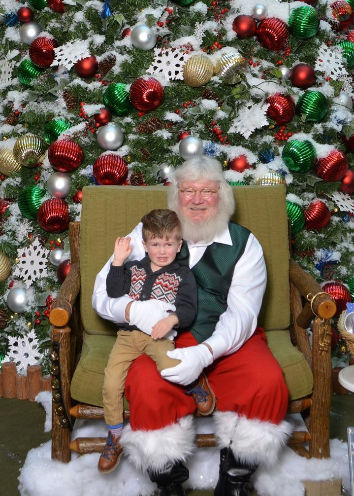 This little guy was not happy at all about seeing Santa. Photo courtesy of Danielle Kump.