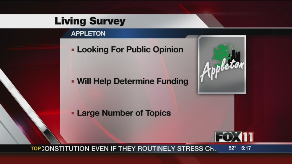 Appleton looking for public opinion to improve city