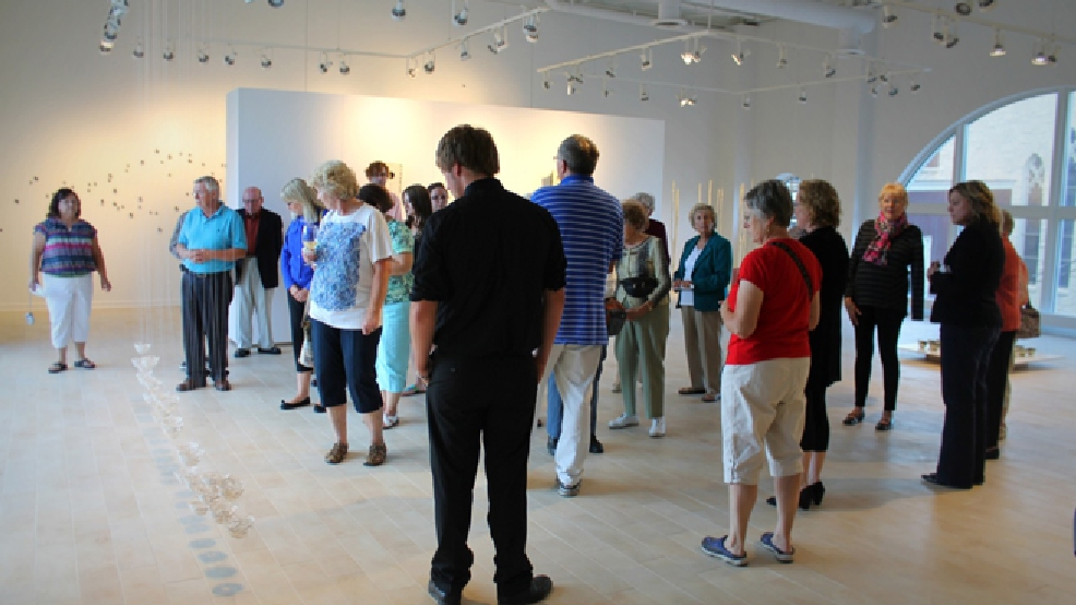Visitors explore the Contemporary Wing of the Thelma Sadoff Center for the Arts in Fond du Lac. (Courtesy: Thelma Sadoff Center for the Arts)