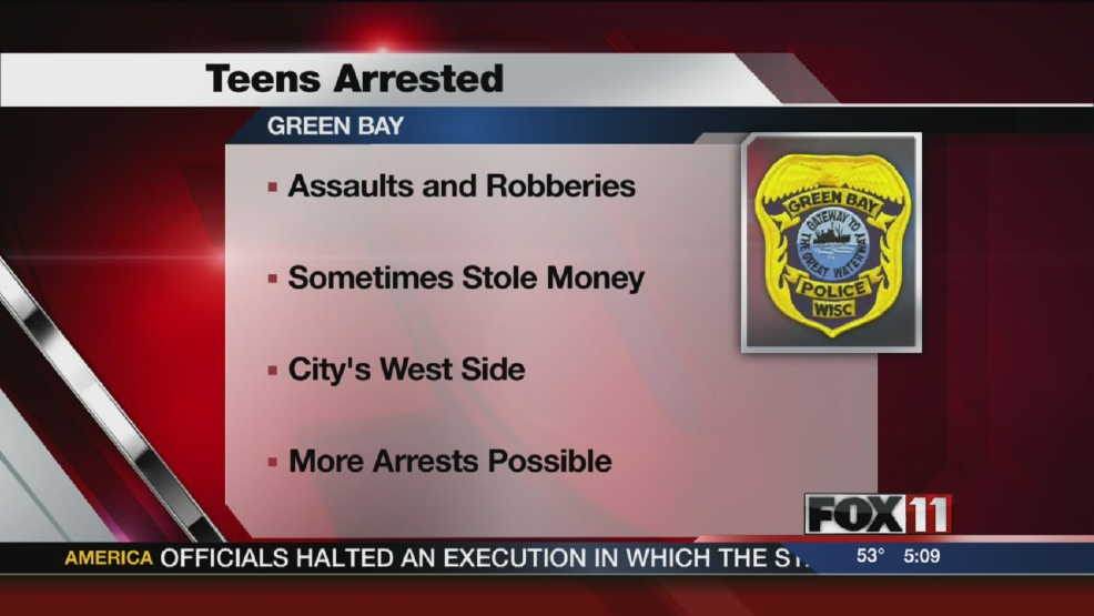 GBPD: Teens arrested for assaults and robberies