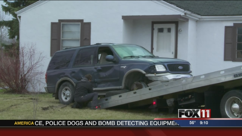 Vehicle crashes into home