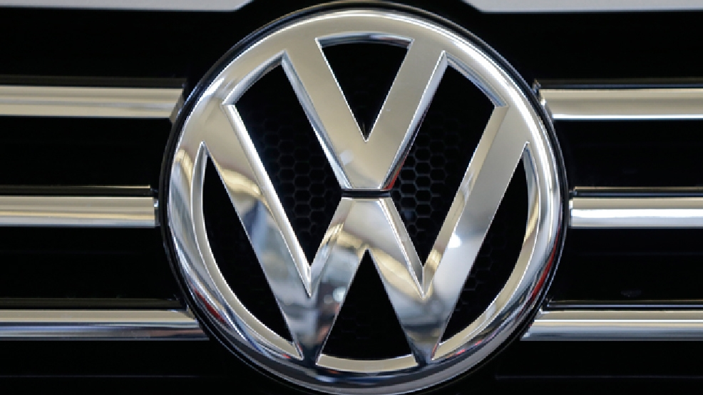 FILE - This file photo taken on Feb. 14, 2013 shows the Volkswagen logo at the 2013 Pittsburgh Auto Show in Pittsburgh. (AP Photo/Gene J. Puskar, File)