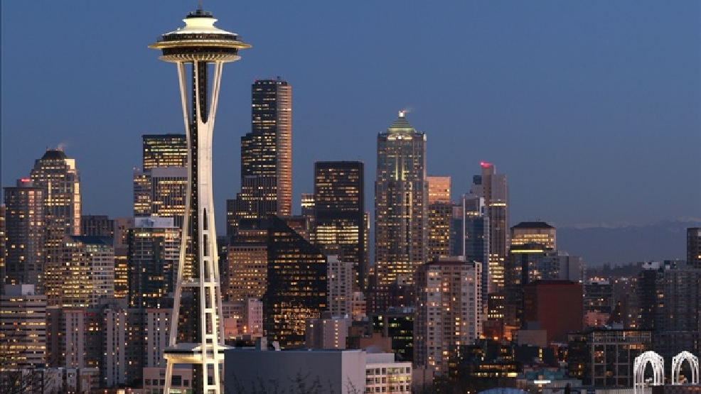 Downtown Seattle, Space Needle  (Photo Credit: GNU Image, MGN online)
