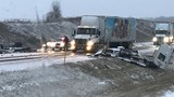 Crews deal with several accidents, including 32-car pileup near Paw Paw