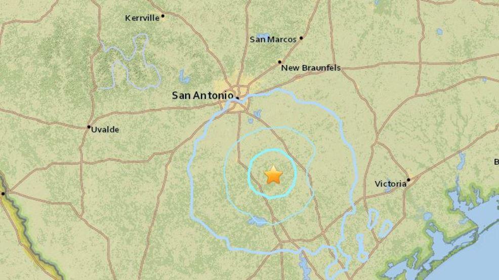 Earthquake reported southeast of San Antonio WOAI