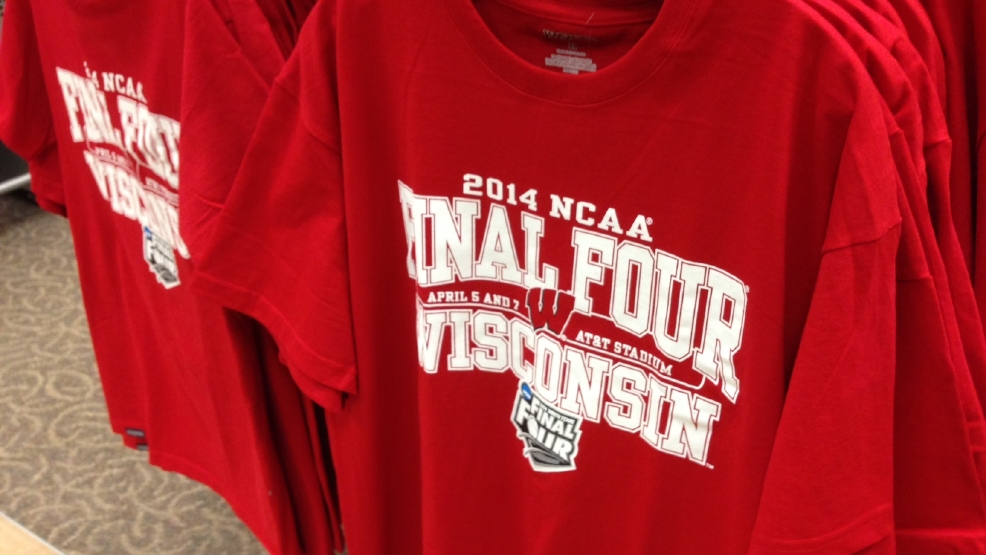 Some Final Four shirts were available at Scheels in Grand Chute on Mon, Mar. 31, 2014. (WLUK/Andrew LaCombe)