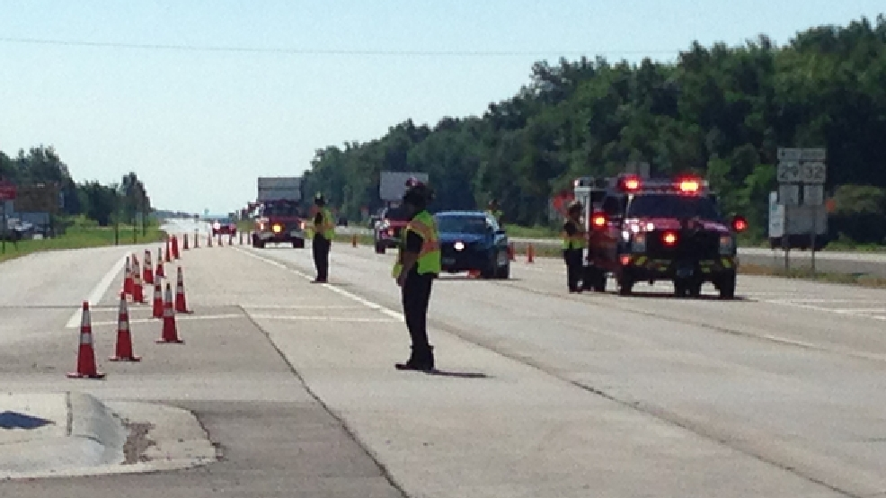Officials direct traffic off of Hwy. 29 at Marley Rd. in Howard because of a crash, July 7, 2014. (WLUK/Mike Raasch)