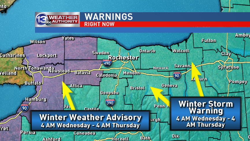 Current warnings and advisories in WNY<p></p>