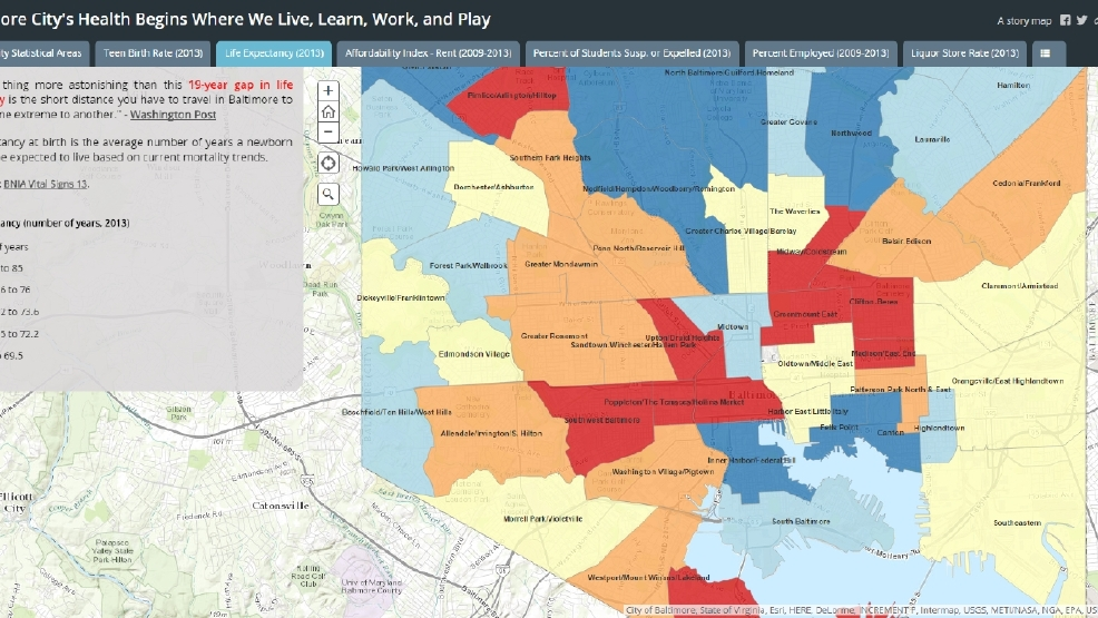 Baltimore City Health Dept maps health insurance coverage