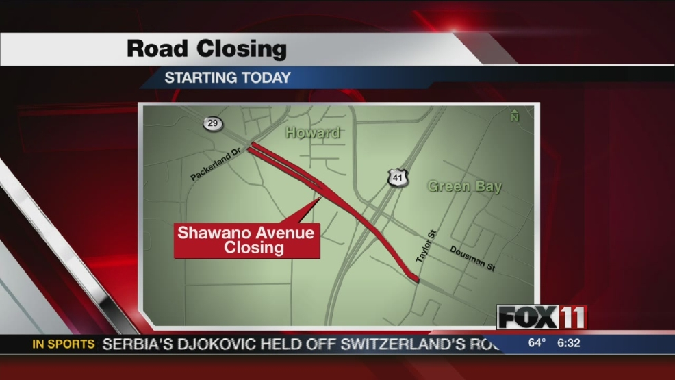 SHAWANO AVE ROAD CLOSURE