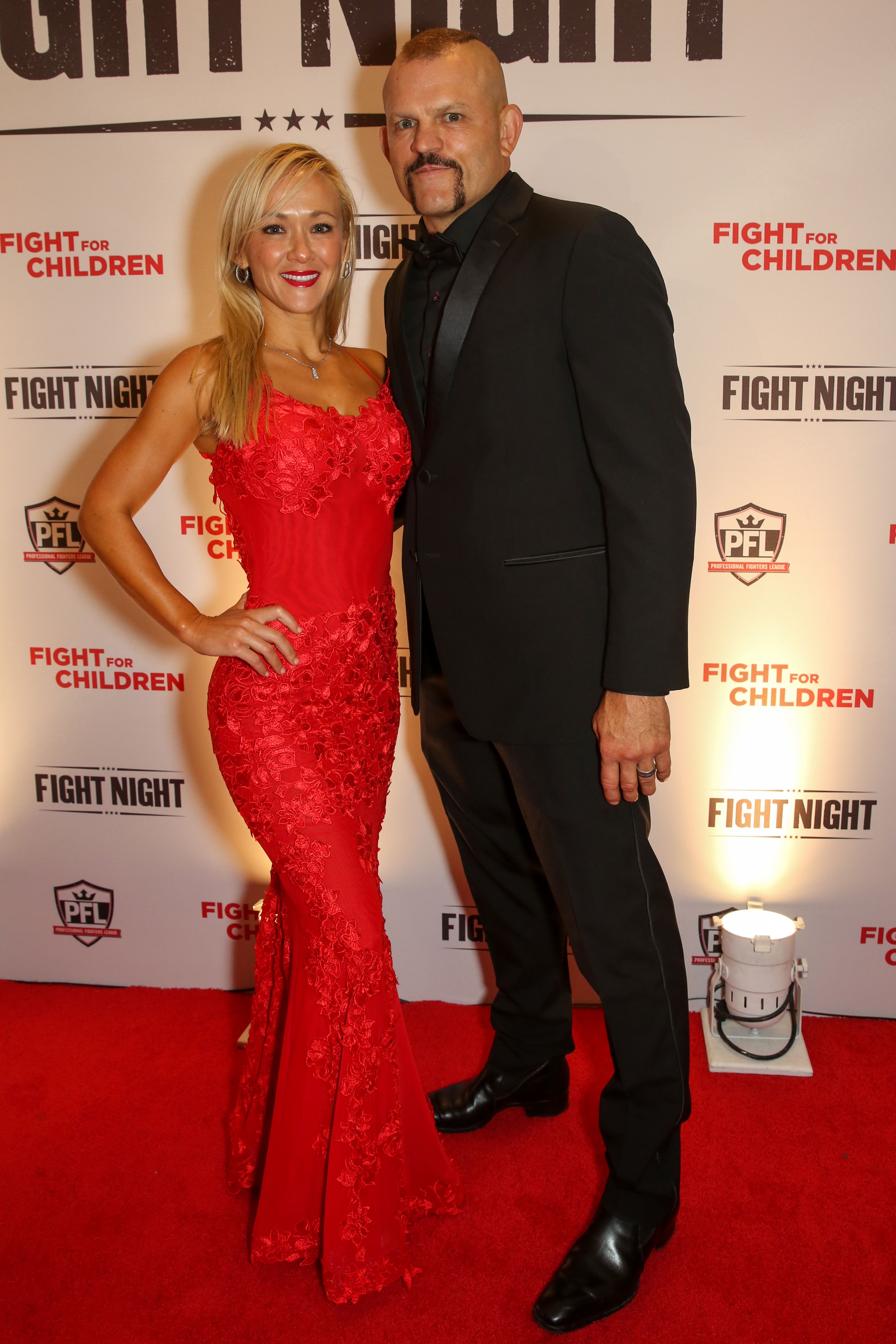 MMA fighter Chuck Liddell and wife Heidi Northcott. (Amanda Andrade-Rhoades/DC Refined)<p></p>