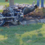 Motorcycle crash injures two