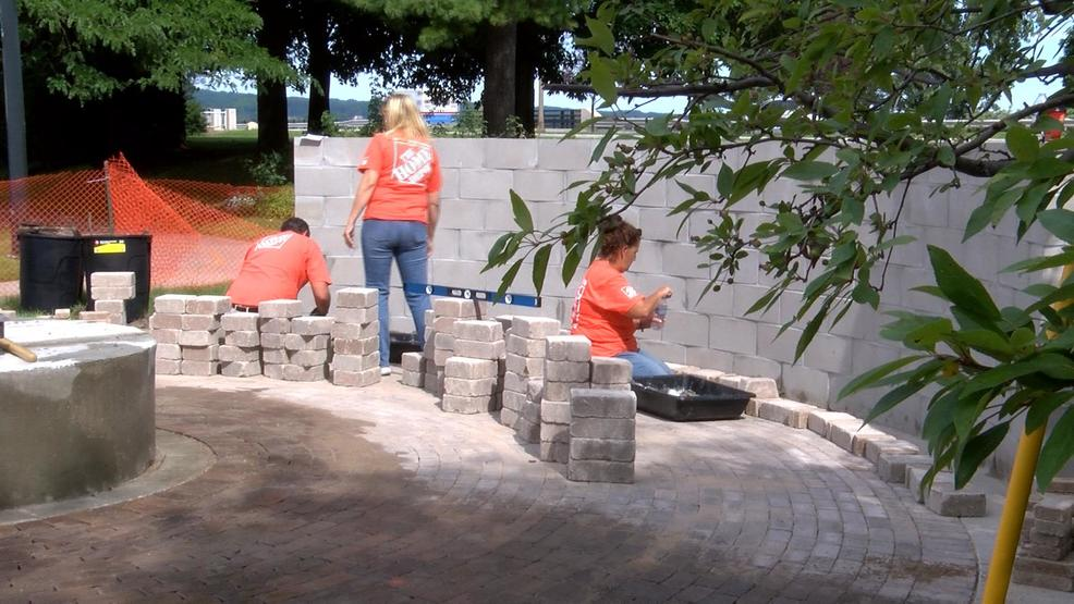 Home Depot Volunteers Help With US Coast Guard Monument