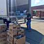 Local veteran filling truck for hurricane victims
