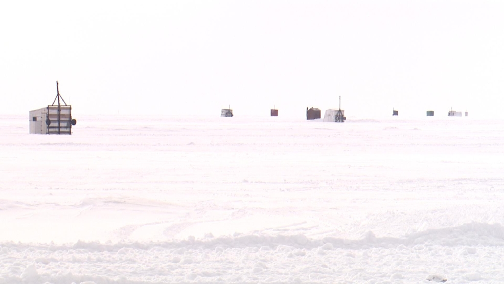 Sturgeon spearing shacks are popping up on Lake Winnebago including Waverly Beach in Menasha.