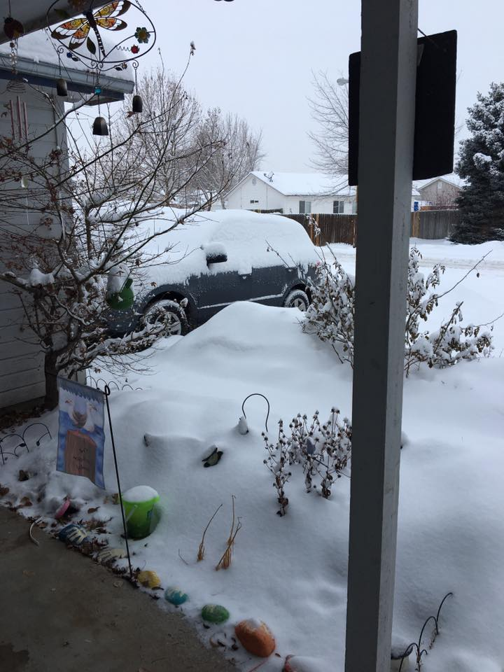 The Treasure Valley got hammered by an impressive winter storm on Wednesday, January 4 that caused numerous school districts across southwest Idaho to close for the day, and left hundreds of people stuck or unable to drive (Courtesy Photo)