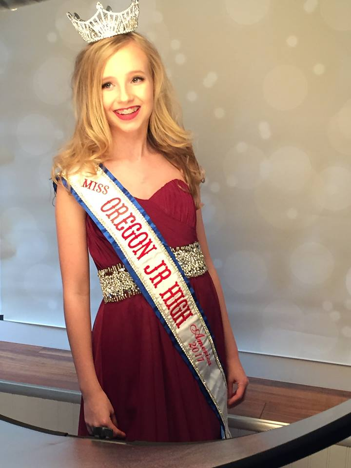 Marin Gray, Miss Oregon Junior High 2017. (Photo courtesy the Gray family)