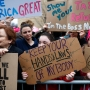Over 1 million join anti-Trump women's marches worldwide