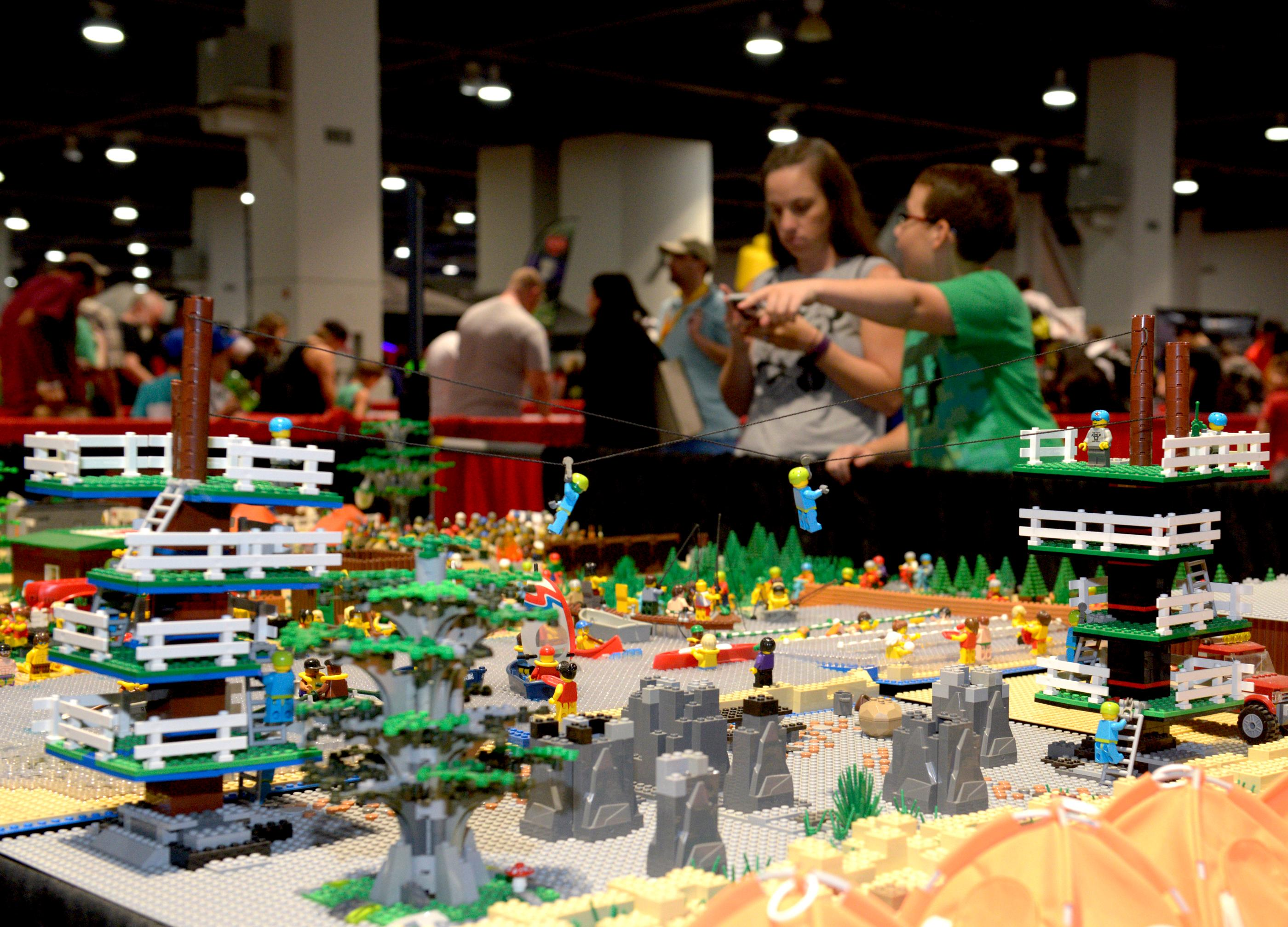There is even a Lego zip-line on display at the Brick Fest Live Lego Fan Experience at the Las Vegas Convention Center, September 9, 2017. [Glenn Pinkerton/Las Vegas News Bureau]