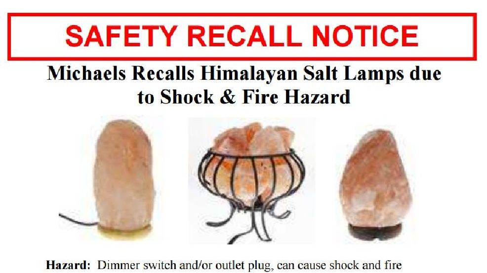 Michaels stores recalling Himalayan Salt Lamps KOKH
