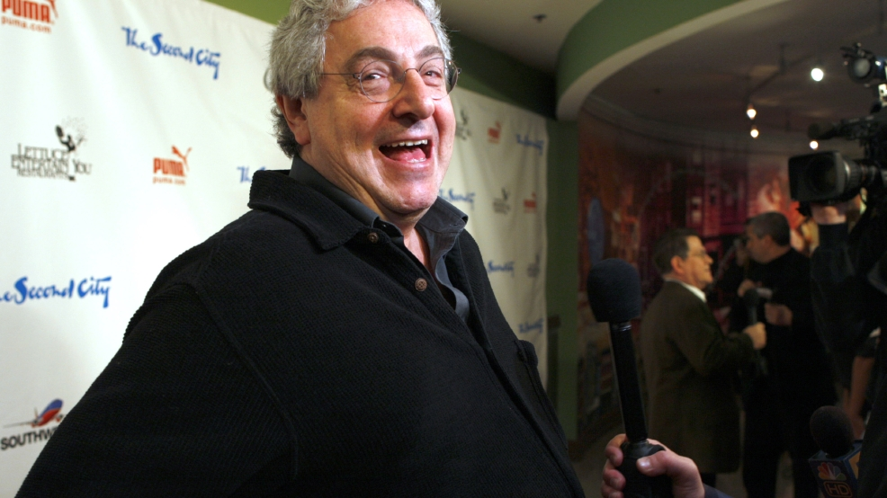 "In this Dec. 12, 2009 file photo, actor and director Harold Ramis laughs as he walks the Red Carpet to celebrate The Second City's 50th anniversary in Chicago. Ramis is best known for his roles in the comedies ""Ghostbusters"" and ""Stripes."" (AP Photo/Jim Prisching)"