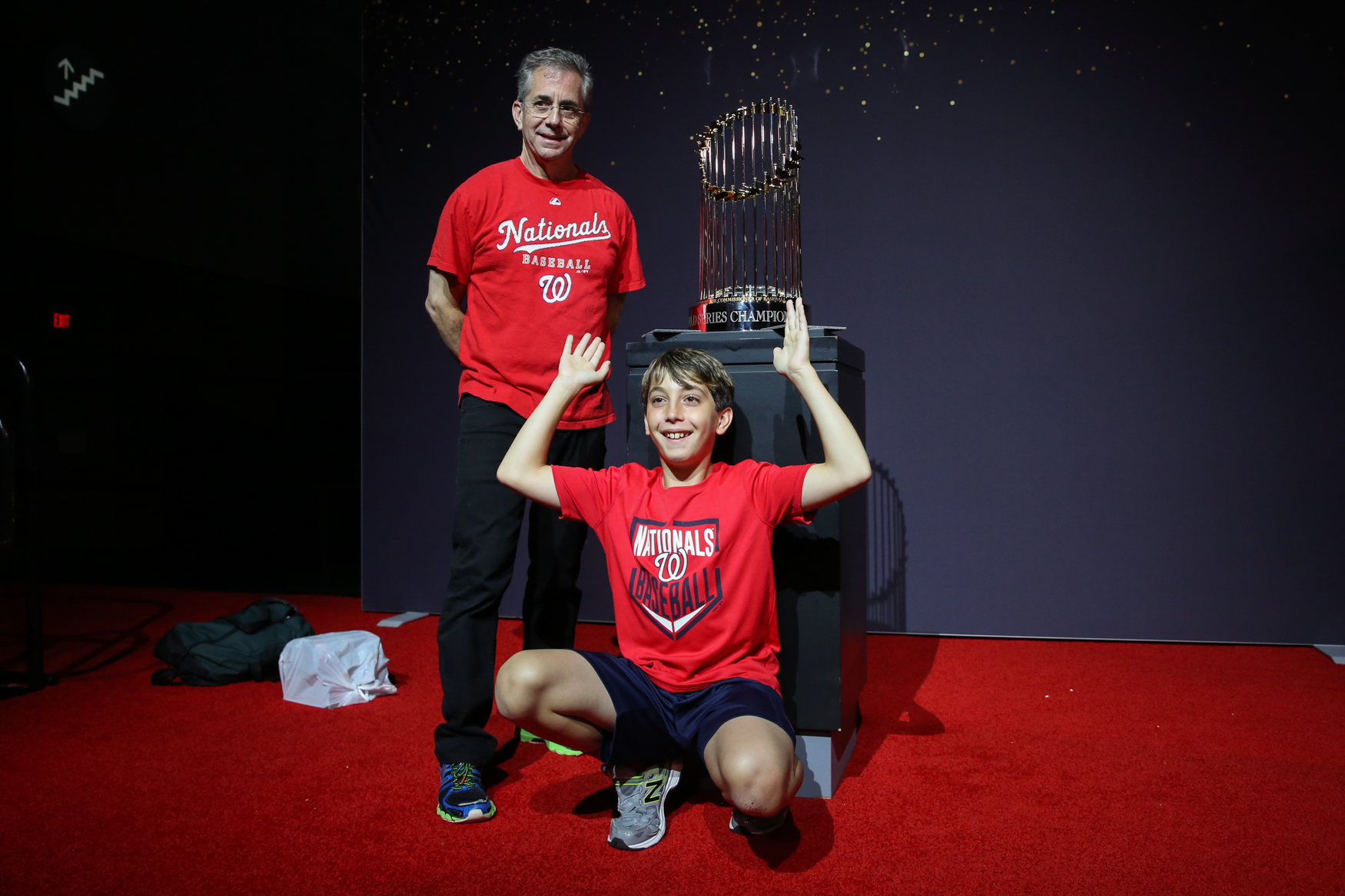 You can even get a pic with the{ }Commissioner's Trophy!{ }(Amanda Andrade-Rhoades/DC Refined)