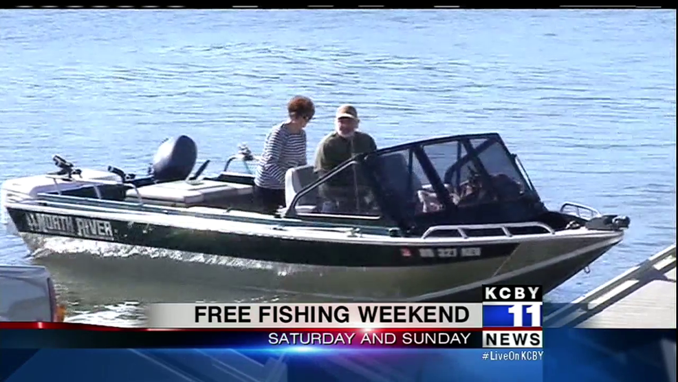 Free fishing this weekend in oregon along south coast kcby for Oregon free fishing