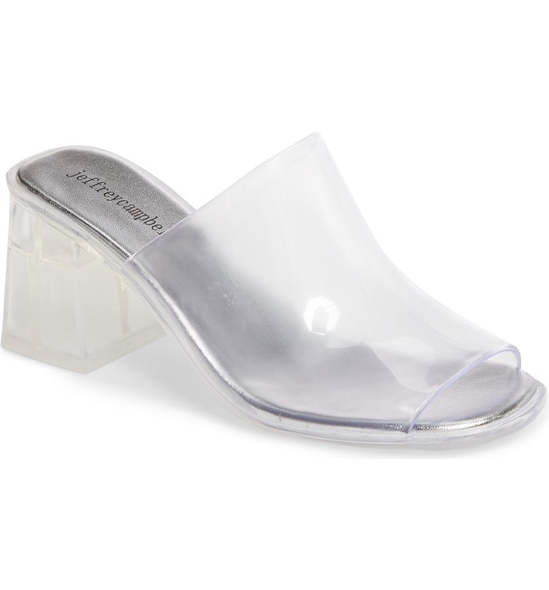 Jeffrey Campbell Jelly Slide Sandal ($44.95). It's time to celebrate Momma.  Here is our Nordie's gift guide for items under $50! (Image: Nordstrom)