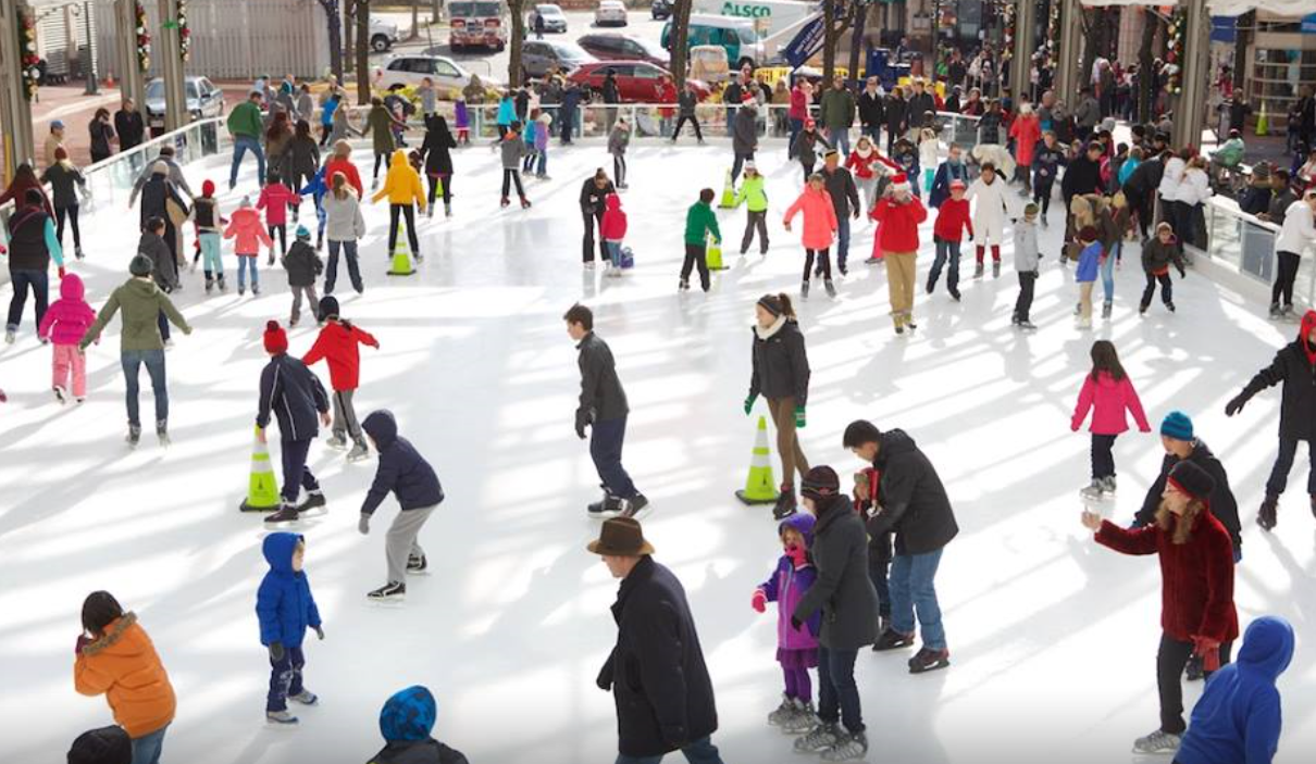 With over 500 pairs of skates ranging from toddler size 8 through men's size 13, Reston is inclusive of all levels of skaters, and offers their rentals in both figure and hockey styles.  (Image: Courtesy Reston Town Center)