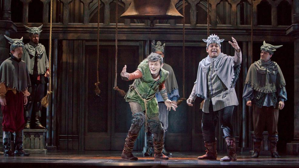 Joshua Castille as Quasimodo and E.J. Cardona as the Voice of Quasimodo in The Hunchback of Notre Dame - Photo Credit Tracy Martin.jpg