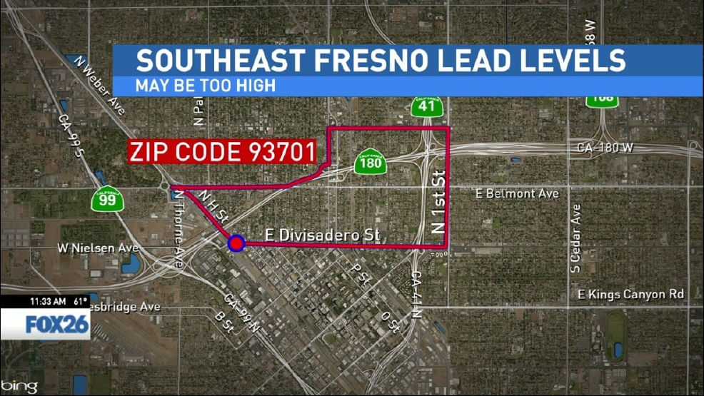 Report High lead exposure in parts of Fresno KMPH