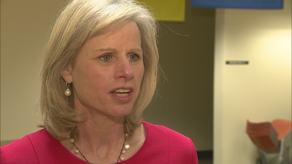 Video still from March 19, 2014 interview with Mary Burke