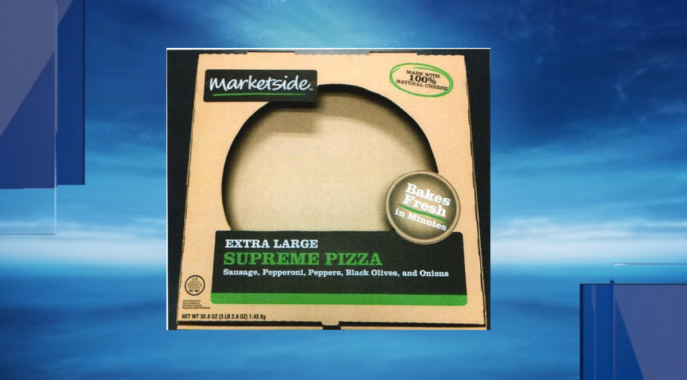 Marketside Supreme Frozen Pizza. (usda.gov)