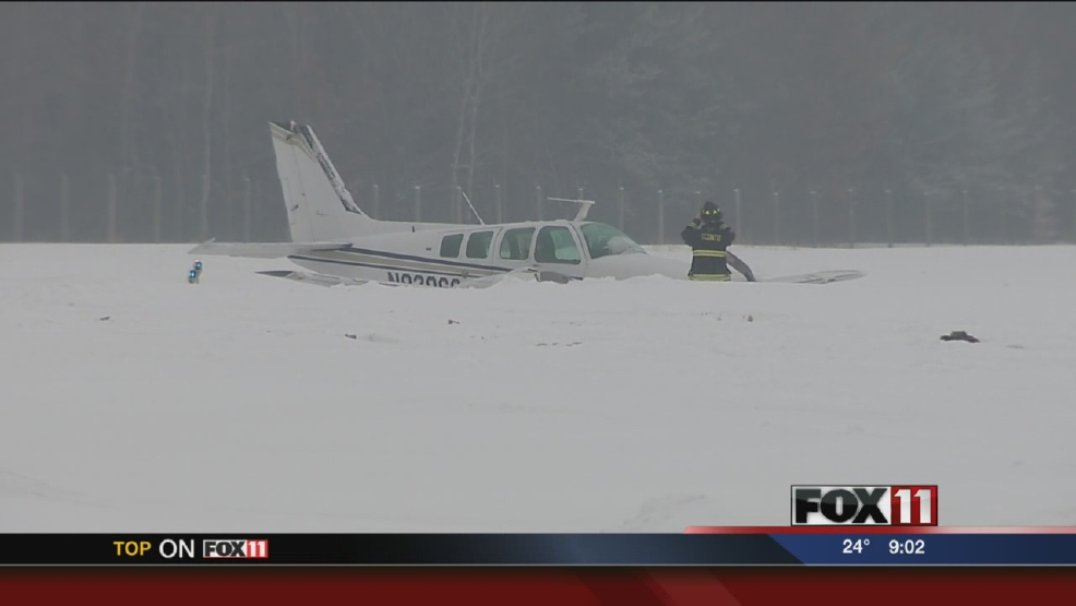 Plane Makes Hard Landing in Oconto