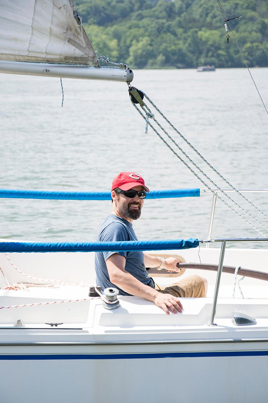 Matt Cunningham, member of the Brookville Sailing Association / Image: Allison McAdams // Published: 6.12.18
