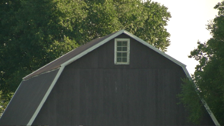 Investigators searched this barn on the property of James Worley. (WNWO)