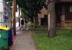 Green Bay police investigate a shooting on the 800 block of E. Walnut St., June 23, 2014. (WLUK/Pauleen Le)